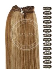 DIY svetlo hnedá-zázvorová blond 51 cm | Invlasy.sk - clip in vlasy