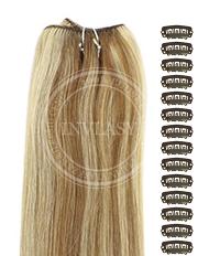 DIY svetlo hnedá-svetlá blond 38 cm