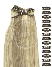 DIY svetlo popolavá hnedá-svetlá blond 61 cm