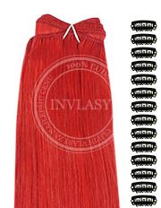 DIY červená 61 cm | Invlasy.sk - clip in vlasy