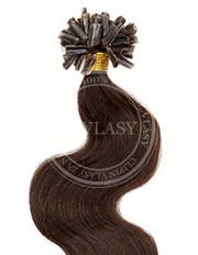 keratín vlnitý tmavo hnedá 45 cm | Invlasy.sk - clip in vlasy