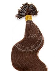 keratín vlnitý stredne hnedá 45 cm | Invlasy.sk - clip in vlasy