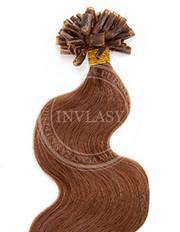 keratín vlnitý svetlá hnedá 45 cm | Invlasy.sk - clip in vlasy