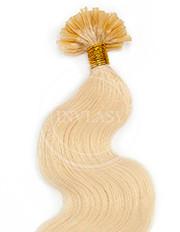 keratín vlnitý najsvetlejšia blond 55 cm | Invlasy.sk - clip in vlasy