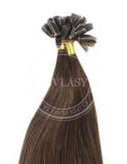 keratín stredne hnedá 35 cm | Invlasy.sk - clip in vlasy