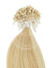 micro ring svetlo zlatá-svetlá blond 55 cm | Invlasy.sk - clip in vlasy
