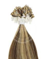 micro ring stredne hnedá-zázvorová blond 45 cm | Invlasy.sk - clip in vlasy