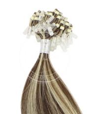 micro ring stredne hnedá-svetlá blond 45 cm | Invlasy.sk - clip in vlasy