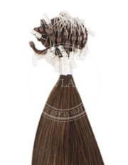micro ring stredne hnedá 45 cm | Invlasy.sk - clip in vlasy