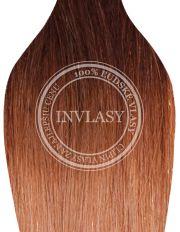 clip in ombré stredne hnedá-zázvorová blond [#T4/27] | Invlasy.sk - clip in vlasy
