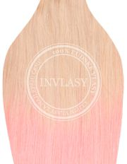 clip in ombré najsvetlejšia blond-ružová 51 cm | Invlasy.sk - clip in vlasy