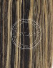 clipin vlasy vlnité čierna prirodzená-zázvorová blond 35 cm | Invlasy.sk - clip in vlasy