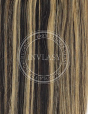 clip-in zvýrazňovače čierna prirodzená-zázvorová blond 51 cm | Invlasy.sk - clip in vlasy