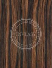 clip-in rychlopás čierna prirodzená-svetlo gaštanová 61 cm