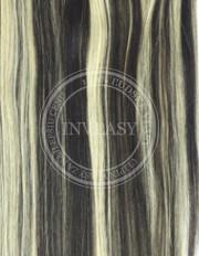 clip-in rychlopás čierna prirodzená-svetlá blond 38 cm