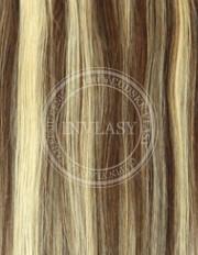 clip-in rychlopás stredne hnedá-stredná blond 38 cm